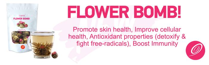 afvallen en relaxen met Flower bomb