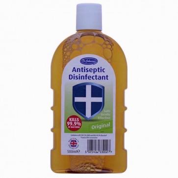 Dr. Johnson's Antiseptic Disinfectant kills 99.9 of bactaria 500 ml